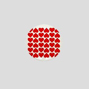 Red Heart of Love Mini Button
