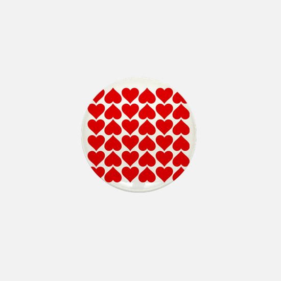 Red Heart of Love Mini Button
