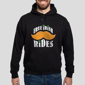 Free irish mustache rides Hoodie (dark)