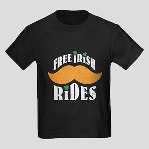 Free irish mustache rides Kids Dark T-Shirt