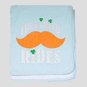 Free irish mustache rides baby blanket