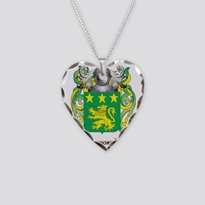 Moore Coat of Arms - Family C Necklace Heart Charm