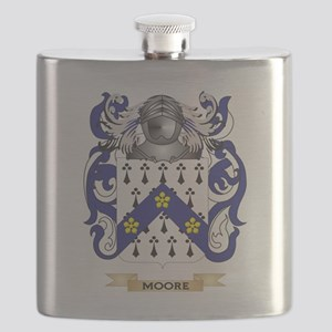 Moore-2 Coat of Arms - Family Crest Flask