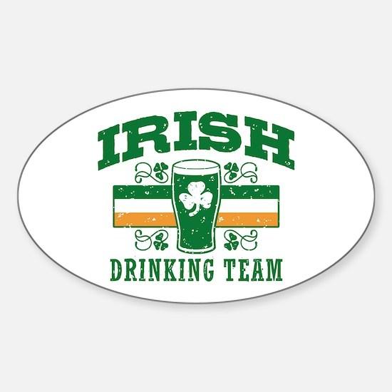 Irish Drinking Team Sticker (Oval)