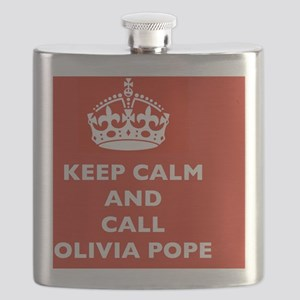 Keep Calm and Call Olivia Pope- Scandal TV S Flask