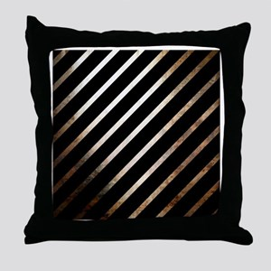 Cool Artsy Black Striped Throw Pillow