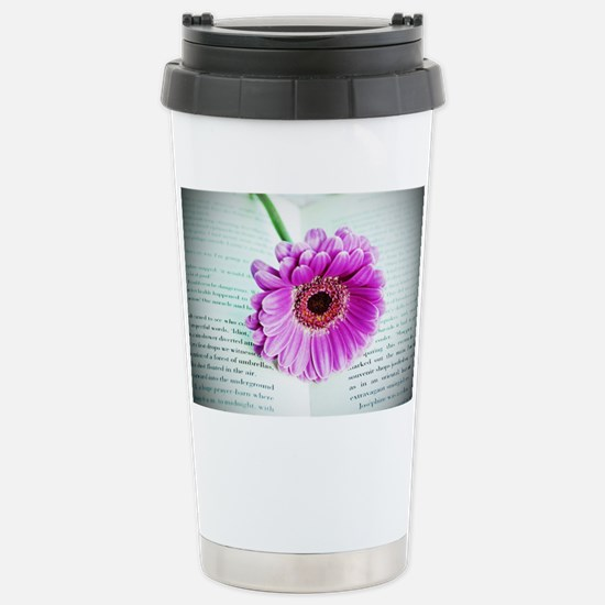 Wonderful Flower with B Stainless Steel Travel Mug
