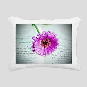 Wonderful Flower with Bo Rectangular Canvas Pillow