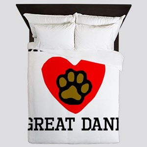 Saved By A Great Dane Queen Duvet