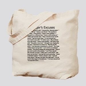 Singer's Excuses Tote Bag