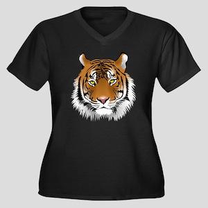 Wonderful Ti Women's Plus Size V-Neck Dark T-Shirt