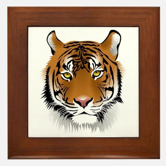 Wonderful Tiger Framed Tile