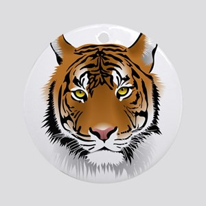 Wonderful Tiger Round Ornament