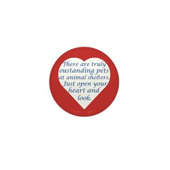 Open Your Heart Mini Button (10 pack)
