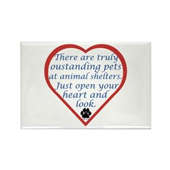 Open Your Heart Rectangle Magnet