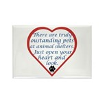 Open Your Heart Rectangle Magnet (100 pack)
