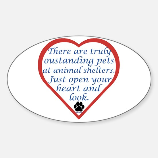 Open Your Heart Oval Decal