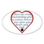 Open Your Heart Oval Sticker