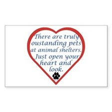 Open Your Heart Rectangle Sticker