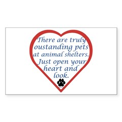 Open Your Heart Rectangle Decal