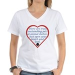 Open Your Heart Women's V-Neck T-Shirt