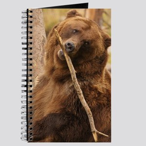 bear playing with a stick Journal