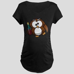 Owl Maternity Dark T-Shirt