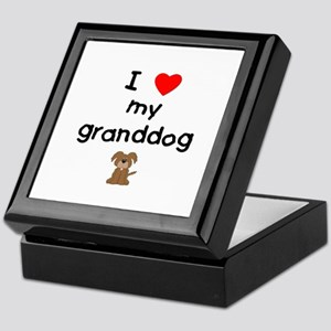 I love my granddog (3) Keepsake Box