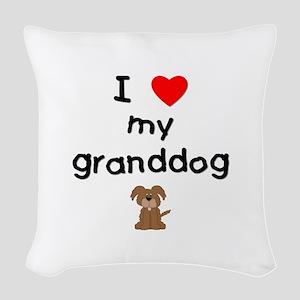 I love my granddog (3) Woven Throw Pillow
