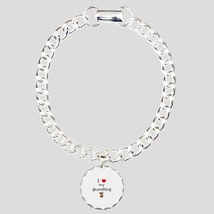 I love my granddog (3) Charm Bracelet, One Charm