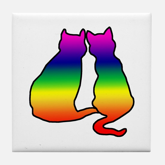 Cats in Love Tile Coaster