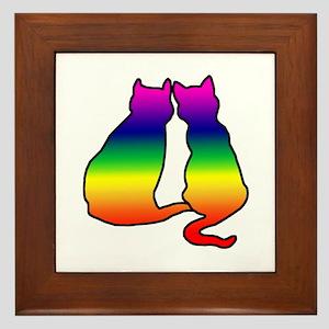 Cats in Love Framed Tile