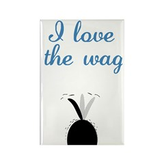 Love the Wag Rectangle Magnet