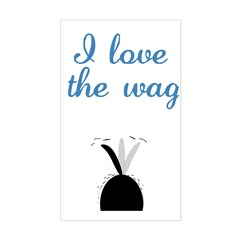 Love the Wag Rectangle Decal