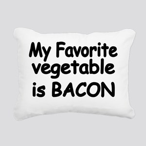MY FAVORITE VEGETABLE IS Rectangular Canvas Pillow