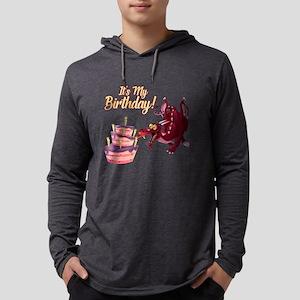 It's My Birthday Dragon Mens Hooded Shirt