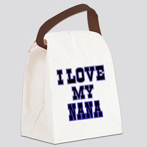 I LOVE MY NANA-BLUE Canvas Lunch Bag