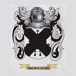 Morrison Coat of Arms - Family Crest Throw Blanket