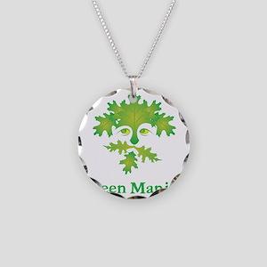 green-maniac Necklace Circle Charm