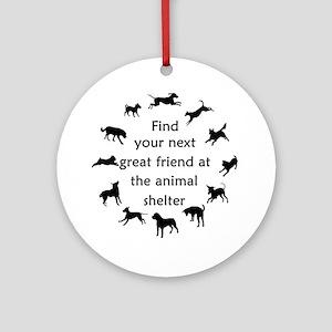 Adopt a Dog Ornament (Round)