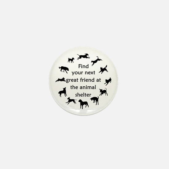 Adopt a Dog Mini Button