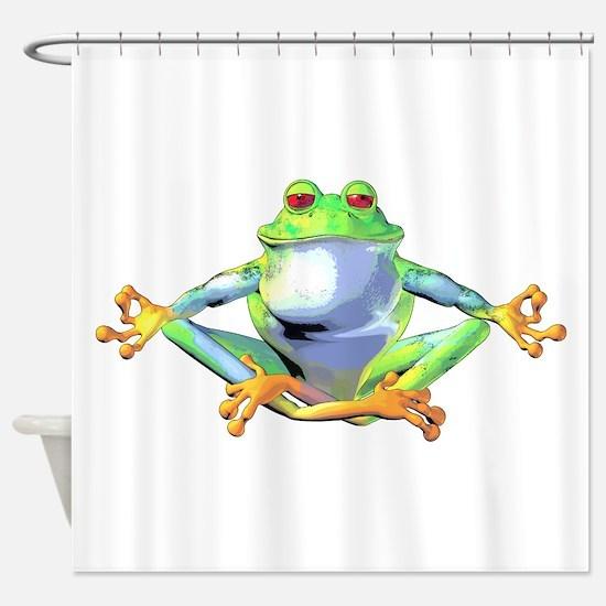 frogzen.png Shower Curtain