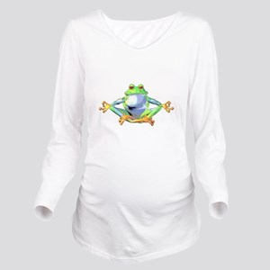 frogzen Long Sleeve Maternity T-Shirt