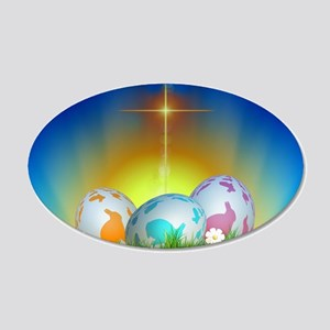 Easter Design 20x12 Oval Wall Decal