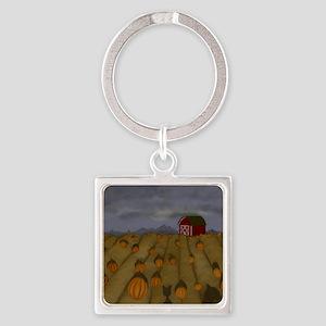 Pumpkin Patch Square Keychain