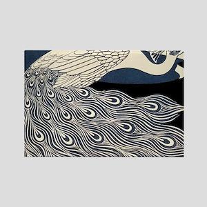 Art Nouveau Peacock Poster Magnets