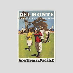 Golf, Monterey Peninsula, Vintage Poster 5'X7'area