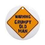 THe Grumpy Ornament (Round)