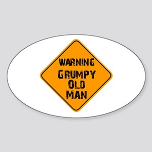 THe Grumpy Oval Sticker