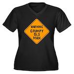 THe Grumpy Women's Plus Size V-Neck Dark T-Shirt
